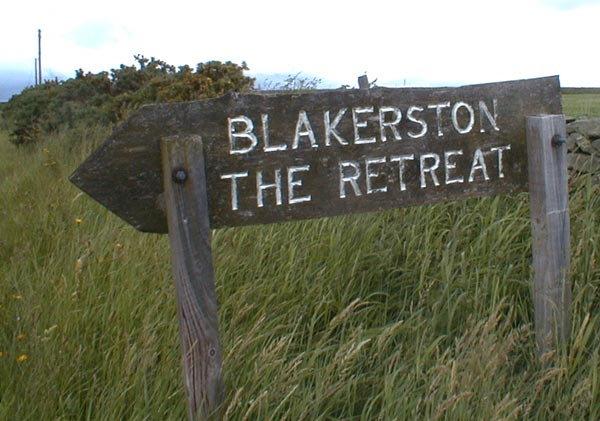 Sign at one entrance to Blakerston Farm.
