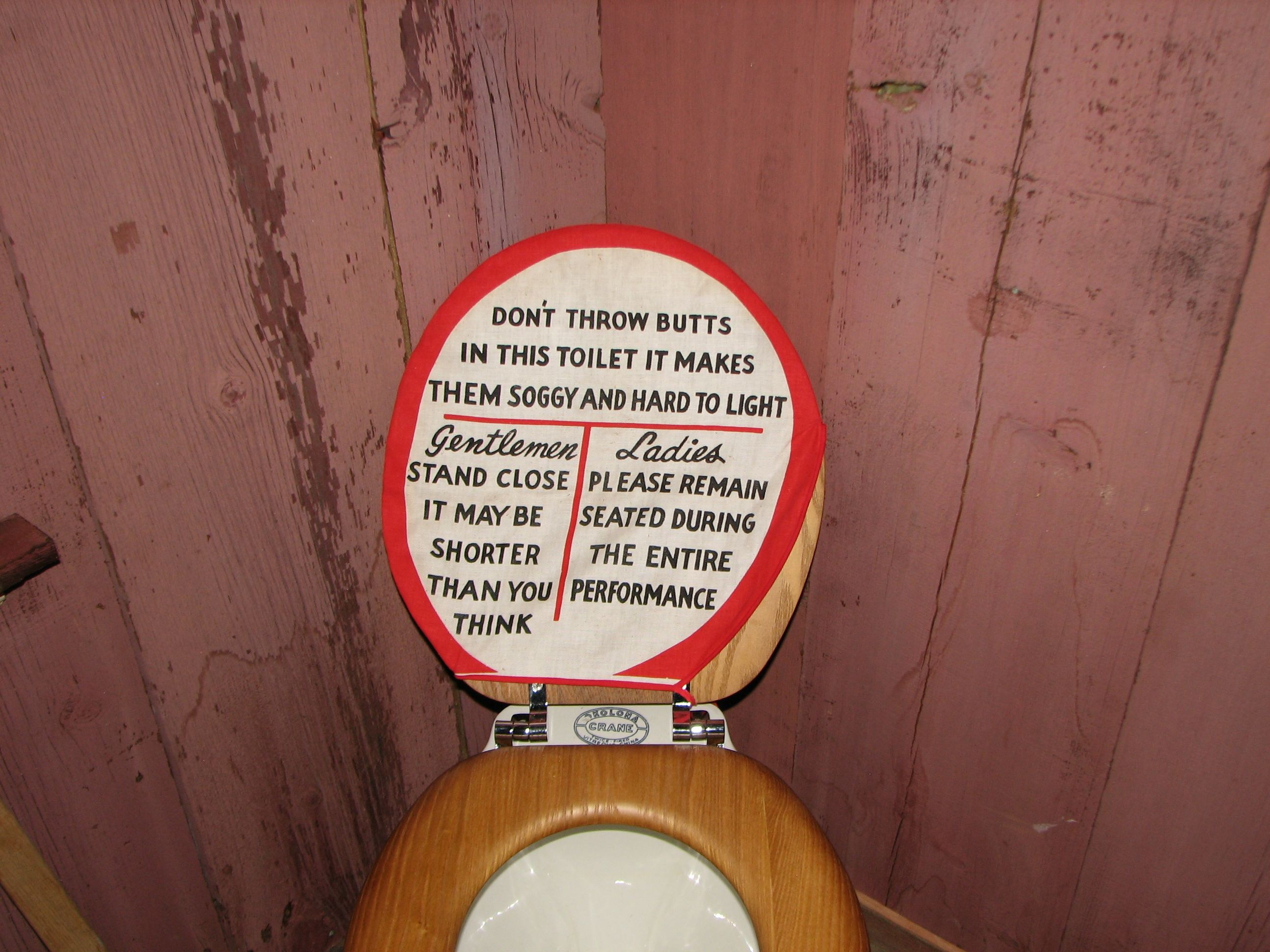 The Toilet with Instrutions