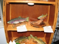 Wood Fish carved by Larry Gilbert