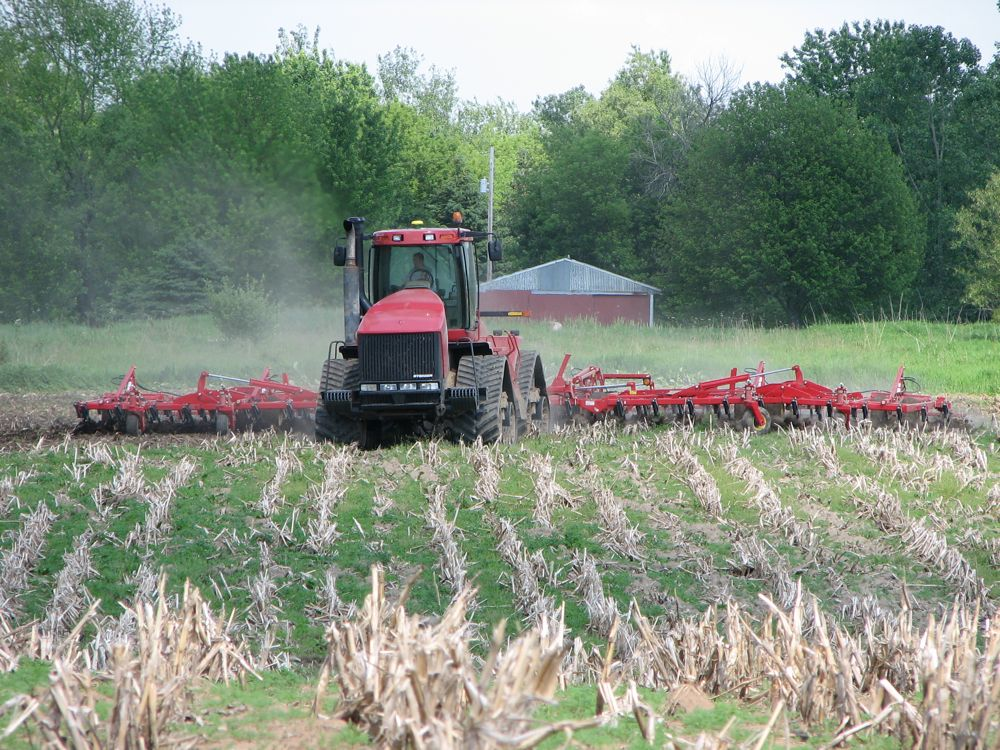 The Case STX480 and Cultivator