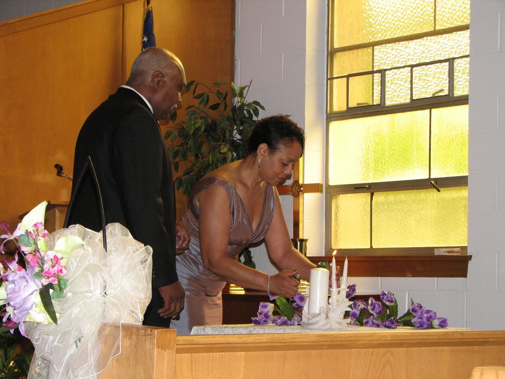 Lighting the Unity Candle