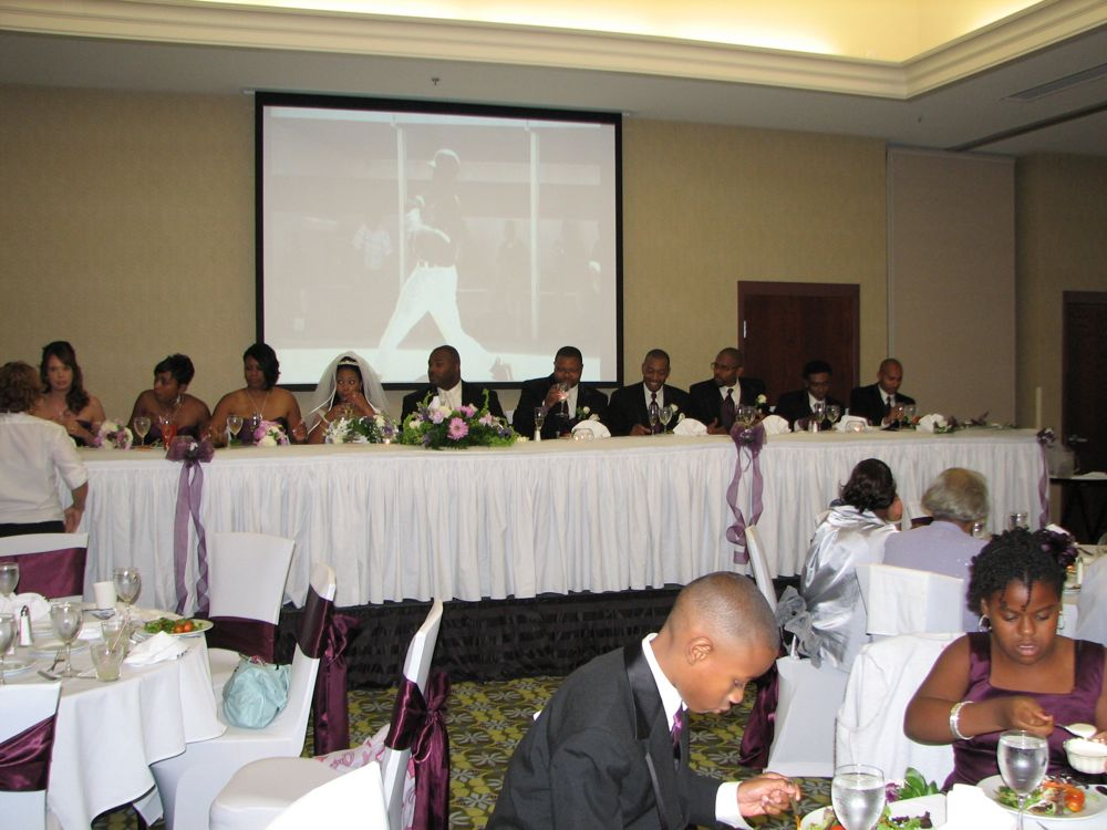 High School Kenny looms over the Head Table