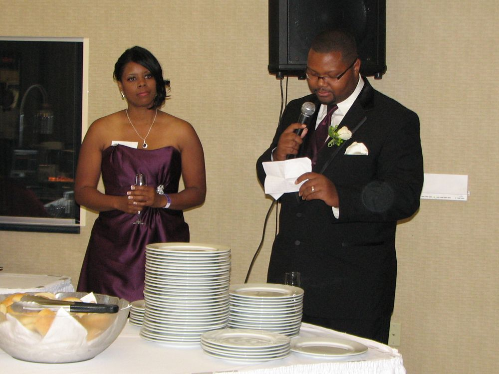 The Matron of Honour and the Best Man in The Toasts