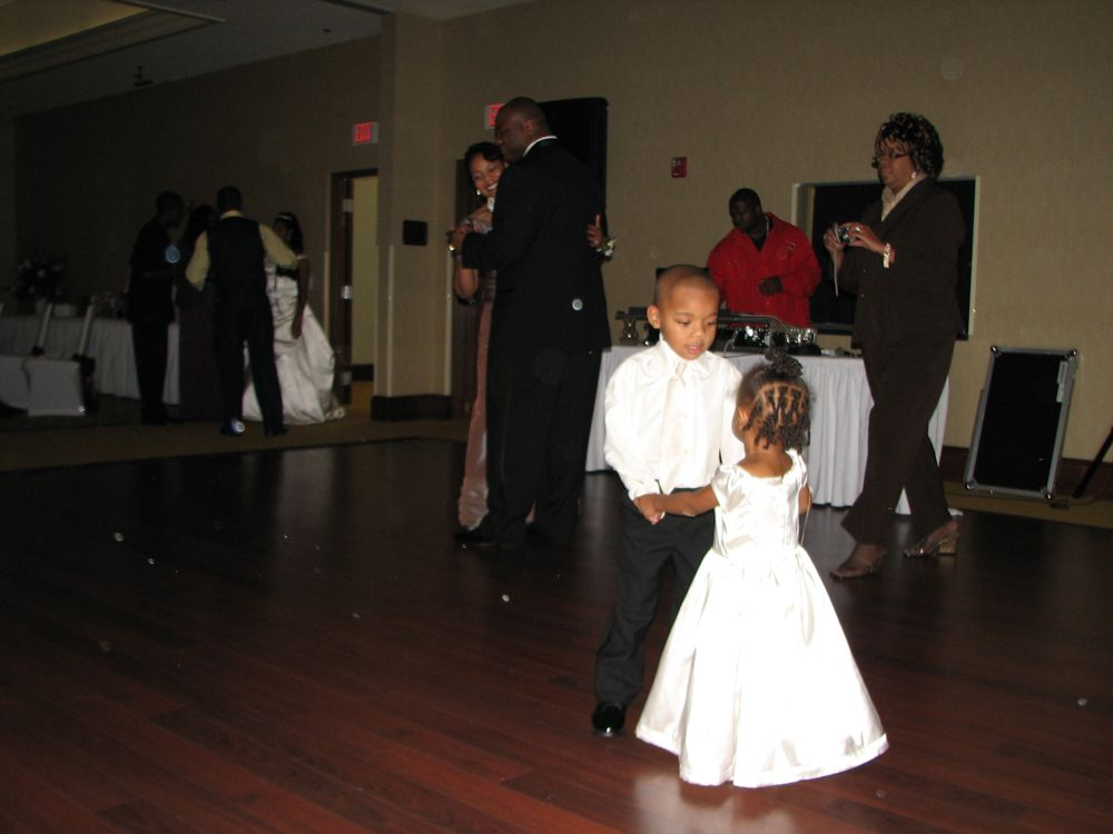 Groom and Mother being outshone by the Little Dancers  - Justin Short & Anala Millbrooks