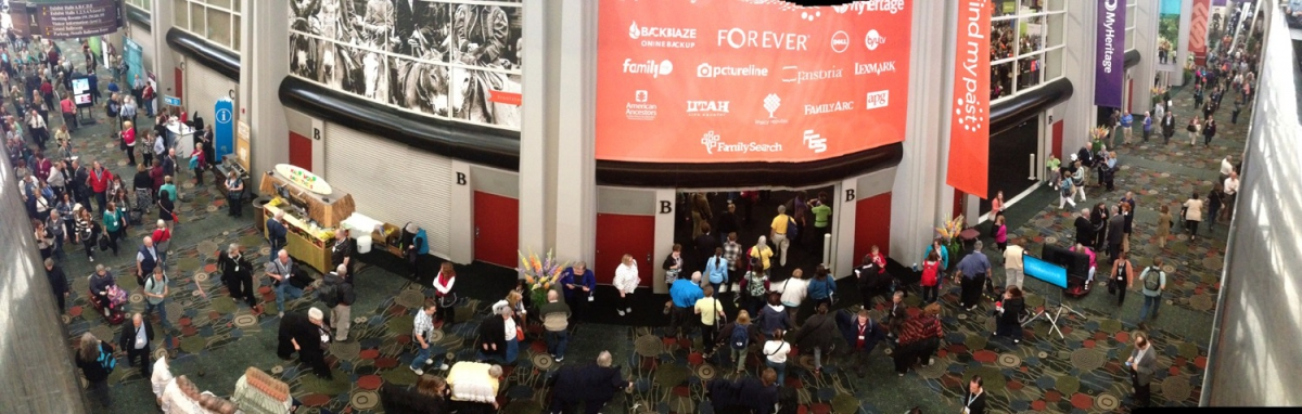 Panorama from above the hallway outside the Expo Hall