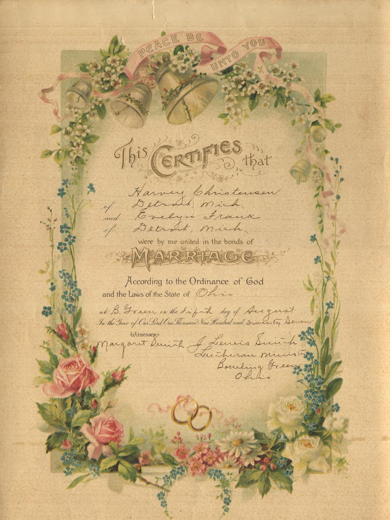 evelyn-frank-harvey-christensen-marriage-certificate