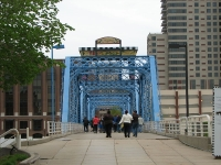 The Blue Bridge and the Giant Table and Chairs