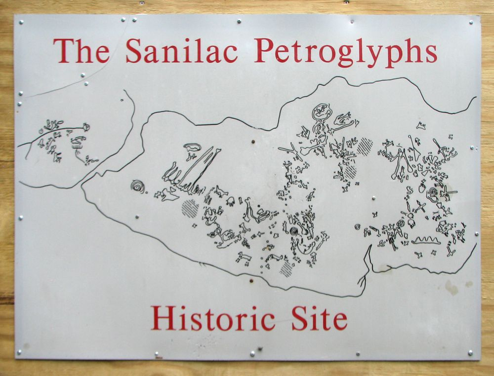 Diagram of the Petroglyphs
