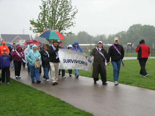 Survivor's Parade - it's raining...