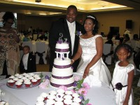 Kenneth and Ericka - Cutting the Cake