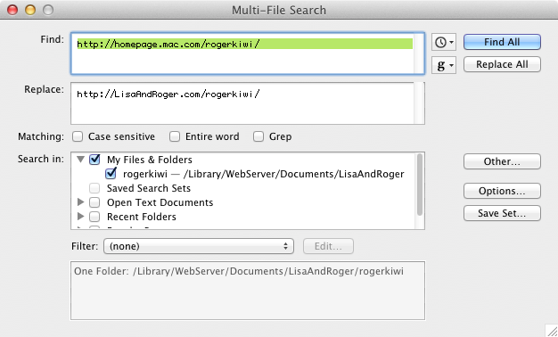 TextWrangler Multi-File Search And Replace